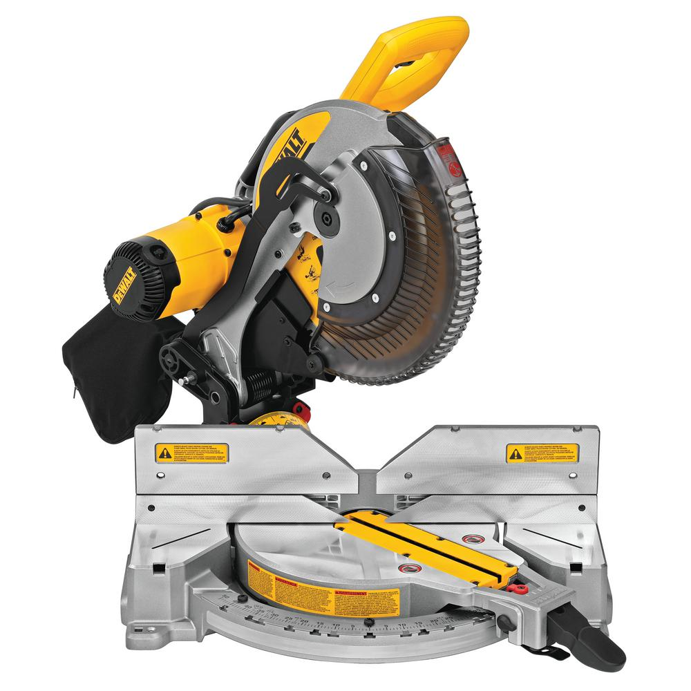 Dewalt 15 Amp Corded 12 In Compound Double Bevel Miter Saw Dws716 The Home Depot