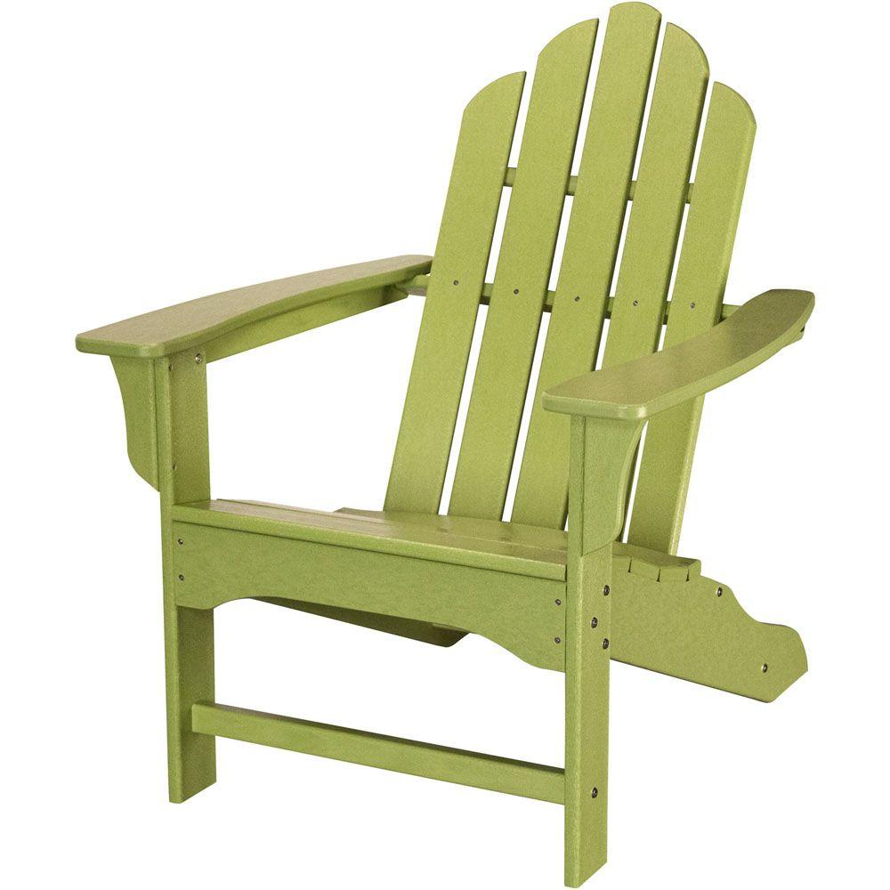 All-Weather Patio Adirondack Chair in Lime Green