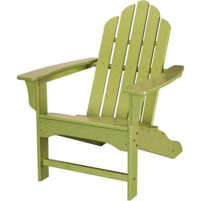 All Weather Patio Adirondack Chair In Lime Green