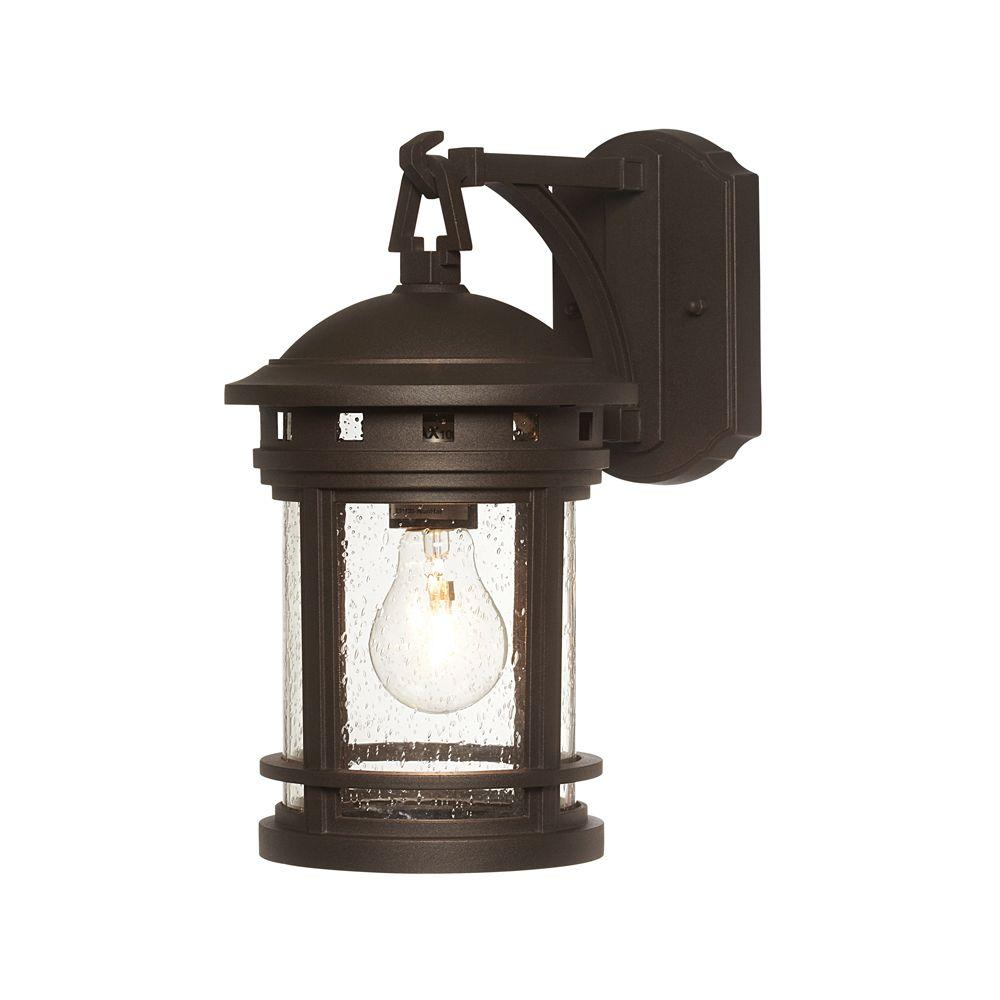 Mesa Collection 1-Light Oil-Rubbed Bronze Outdoor Wall-Mount Lantern