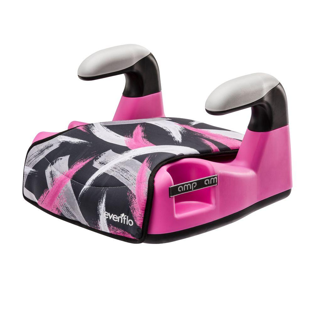 Evenflo AMP LX No Back Booster Paint Brush in Pink