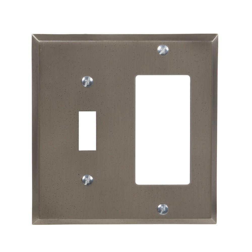 Manhattan 1 Toggle and 1 Decora Wall Plate - Gun Metal Gray
