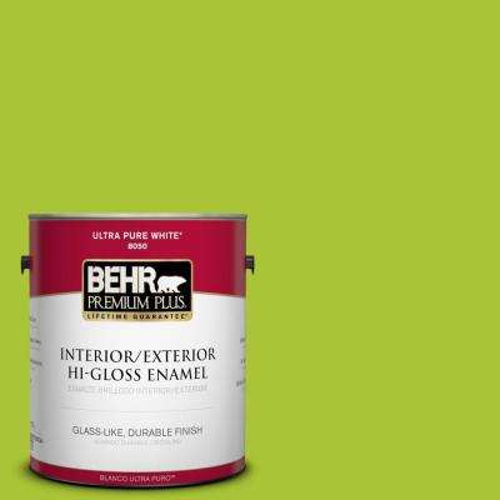 1-gal. #410B-6 Crisp Green Hi-Gloss Enamel Interior/Exterior Paint