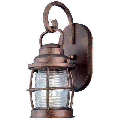 Beacon 1-Light Gilded Copper Small Wall Lantern