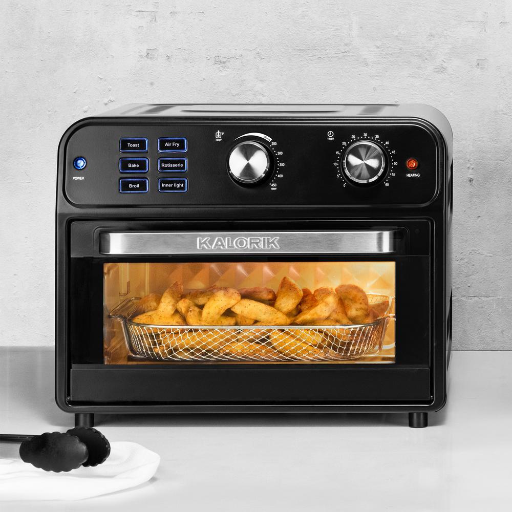 KALORIK-22 Qt. Black Digital Air Fryer Toaster Oven