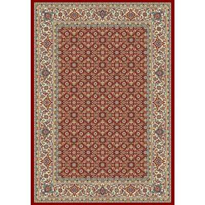 Hughes Red Ivory 2 Ft X 3 11 In Indoor Area Rug