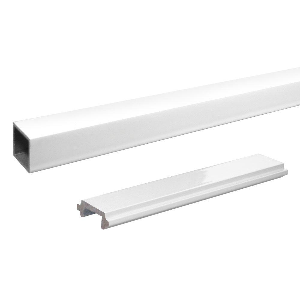 Peak Aluminum Railing Aluminum Single Standard Picket and Spacer Kit in White