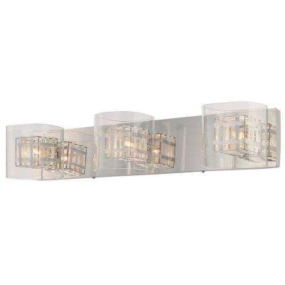 Jewel Box 3 Light Chrome Bath