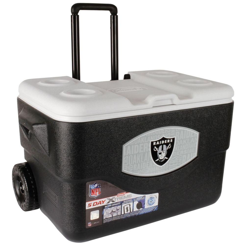 Coleman 50 qt. Oakland Raiders Extreme Cooler with Wheels