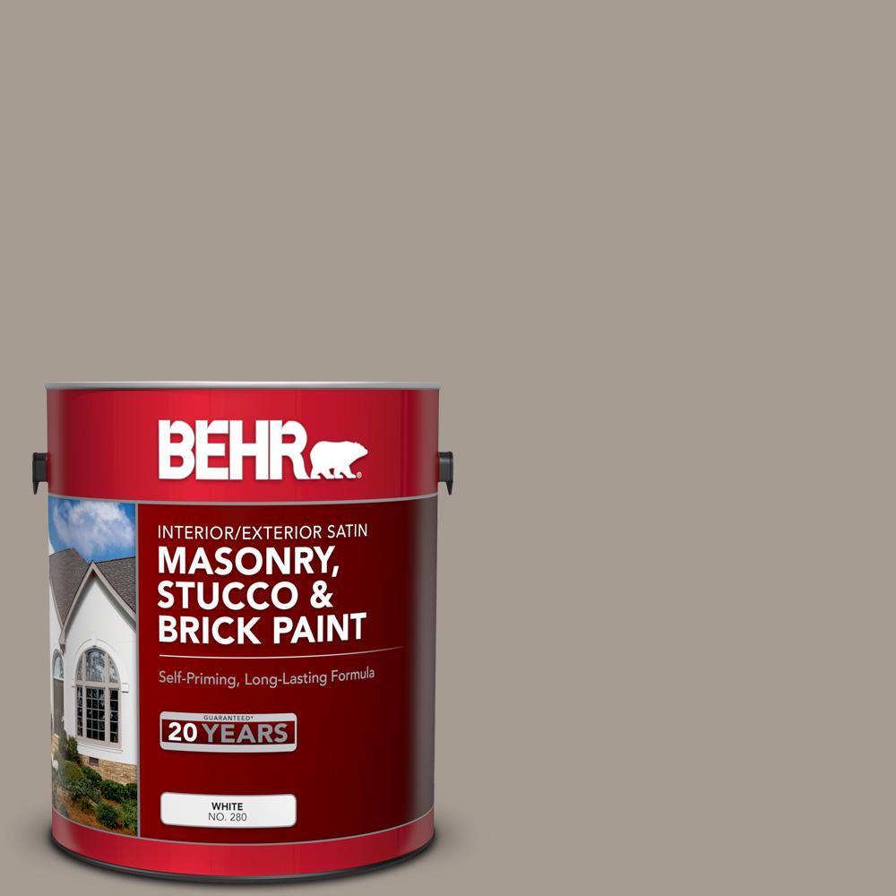 1 gal. #N200-4 Rustic Taupe Satin Interior/Exterior Masonry, Stucco and Brick Paint