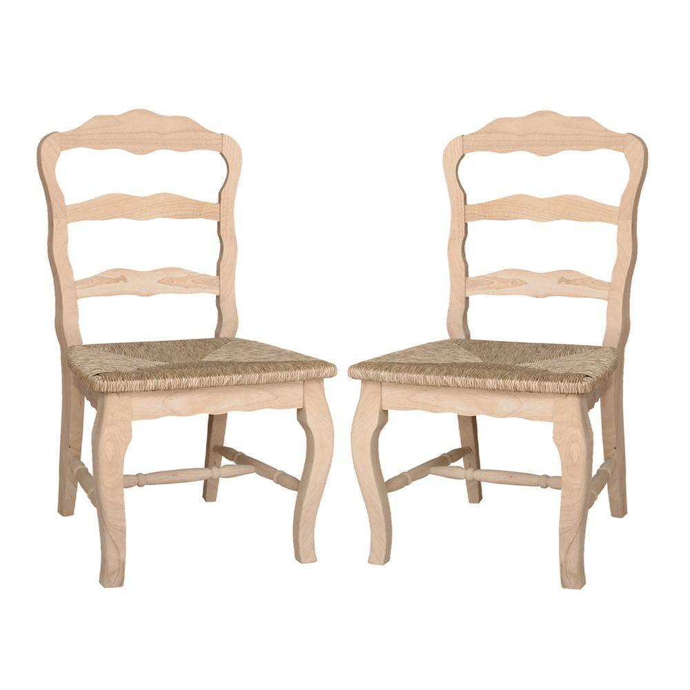 International Concepts Versailles Unfinished Wood Side Chair (Set Of 2)