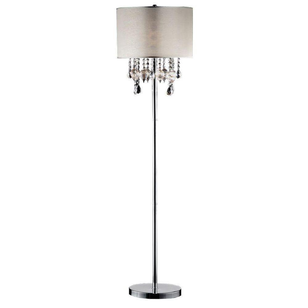 HomeSullivan 60 in. Chrome Floor Lamp