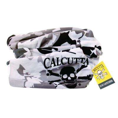 Sun Catcher Head and Neck Gaiter with Logo Camouflage in Black