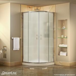 Framed Sliding Shower Doors dreamline prime 36 in. x 36 in. x 74.75 in. framed sliding shower