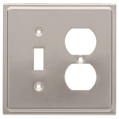 Country Fair Decorative Switch and Duplex Outlet Cover, Satin Nickel