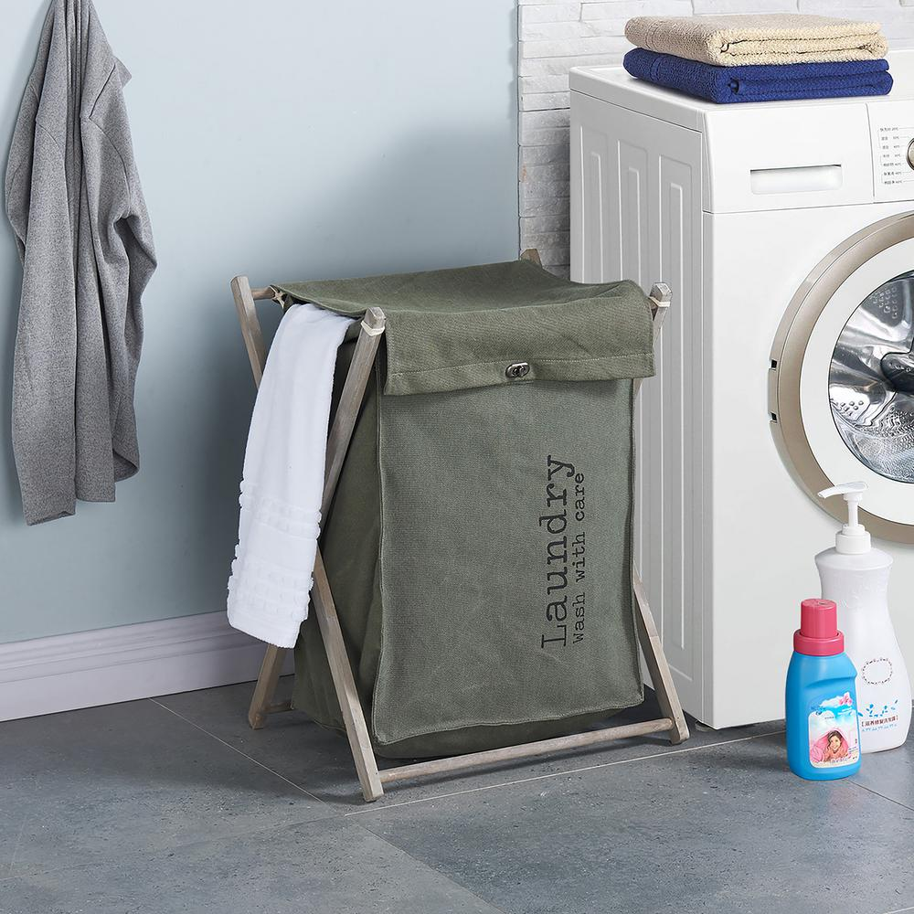 Army Canvas Folding Laundry Hamper