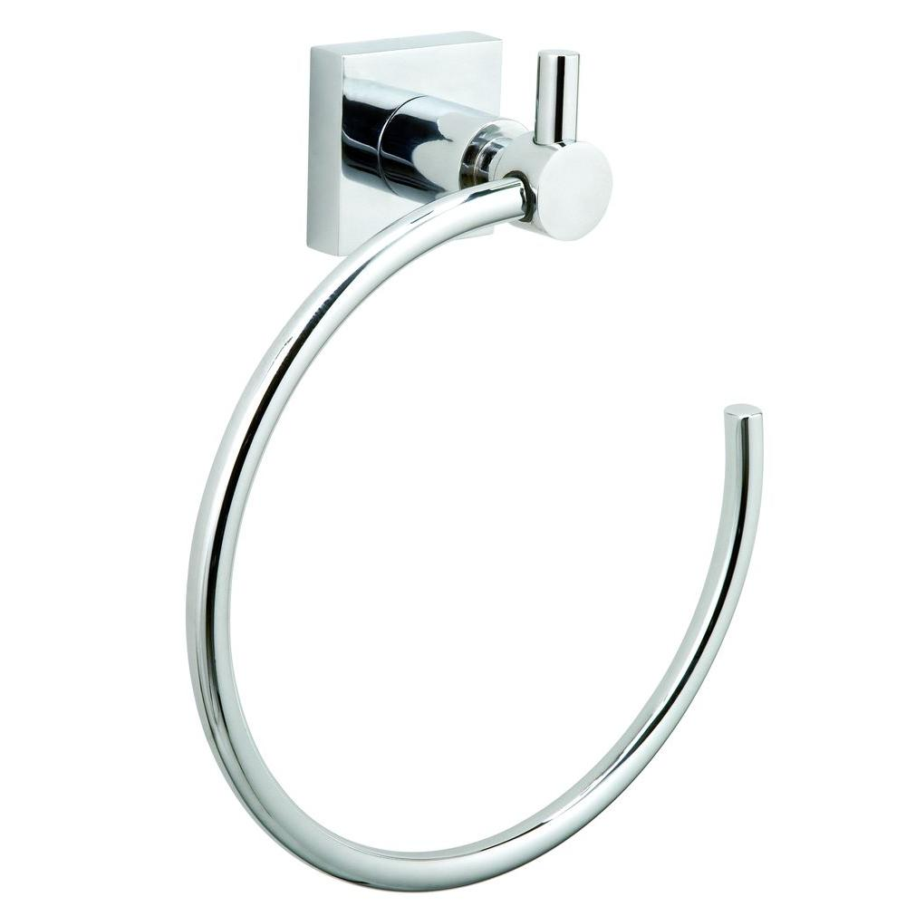 No Drilling Required Hukk Towel Ring in Chrome