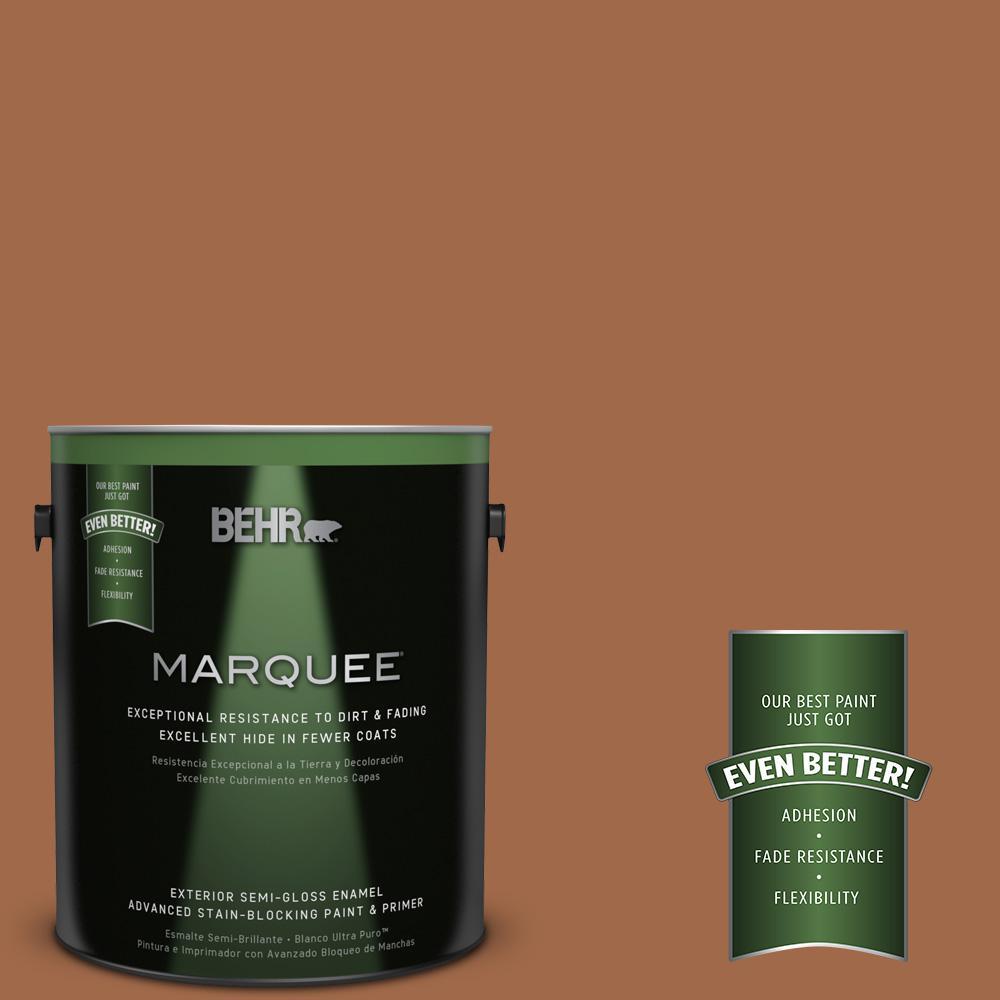 1-gal. #QE-13 Smoldering Copper Semi-Gloss Enamel Exterior Paint