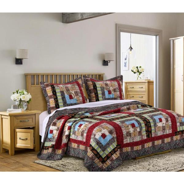 Greenland Home Fashions Colorado Lodge 3-Piece King Quilt Set GL-1601CMSK