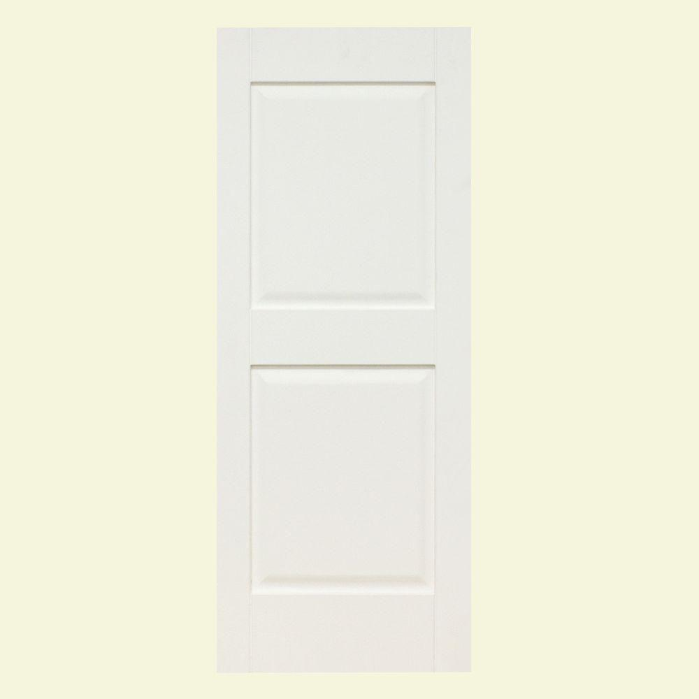 Home Fashion Technologies Plantation 14 in. x 65 in. Solid Wood Panel Shutters Primed-DISCONTINUED