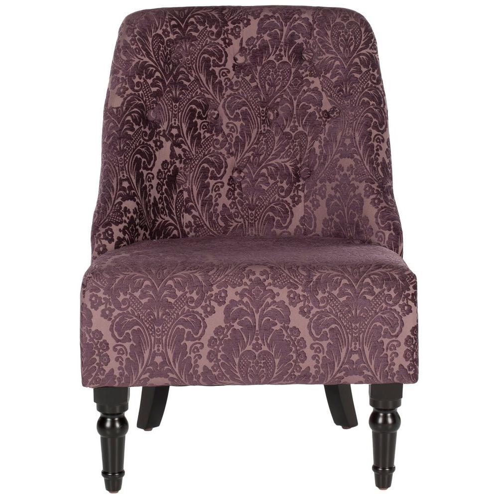 Safavieh Amondi Purple Peach Accent Chair Mcr1001a The