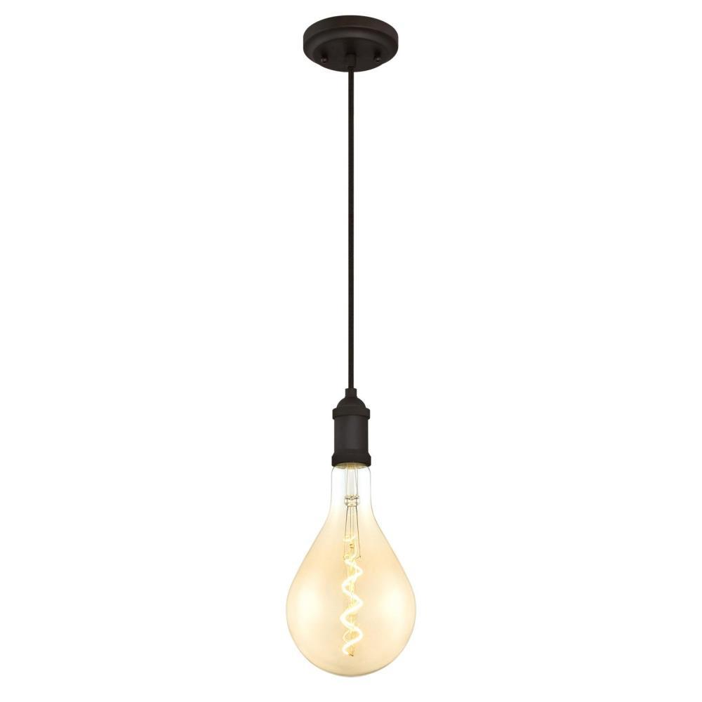 40 Watt 1 Light Oil Rubbed Bronze Dimmable Led Mini Pendant