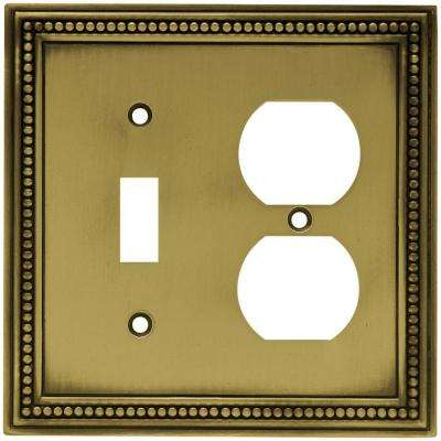 1-Toggle / 1-Duplex - Brass - Wall Plates & Jacks - Electrical - The ...