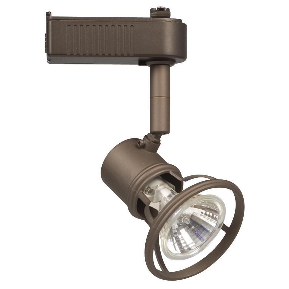 Directional Pendant Track Lighting: Filament Design Negron Bronze Directional Track Lighting