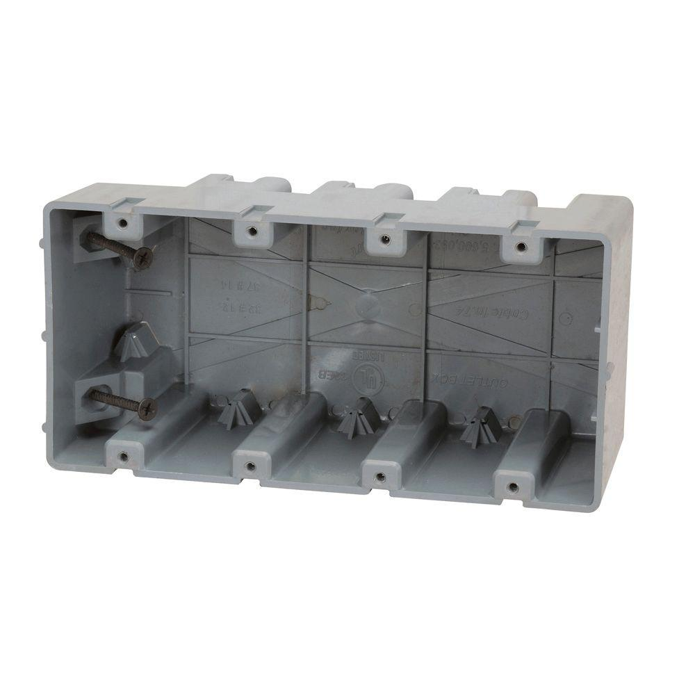 4 4 Weatherproof Electrical Box: Madison Electric Products Smart Box 4-Gang Adjustable