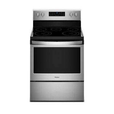 30 in. 5.3 cu. ft. Electric Range with Self-Cleaning Oven in Fingerprint Resistant Stainless Steel