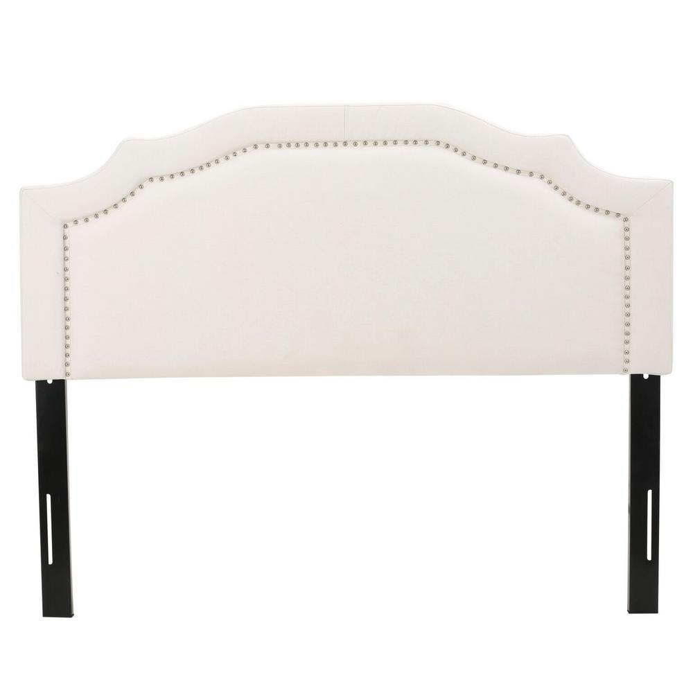 Ivory Queen/Full Adjustable Fabric Headboard