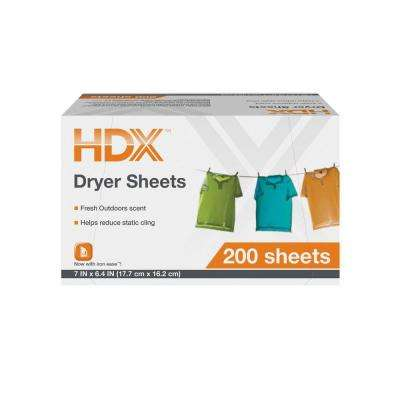 Fresh Scent Dryer Sheets (200-Count)