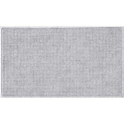 White 36 in. x 84 in. Squares Polypropylene Door Mat