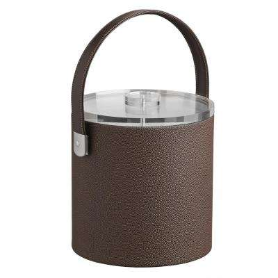 Cosmopolitan 3 Qt. Mocha Ice Bucket with Strap Handle and Thick Lucite Lid