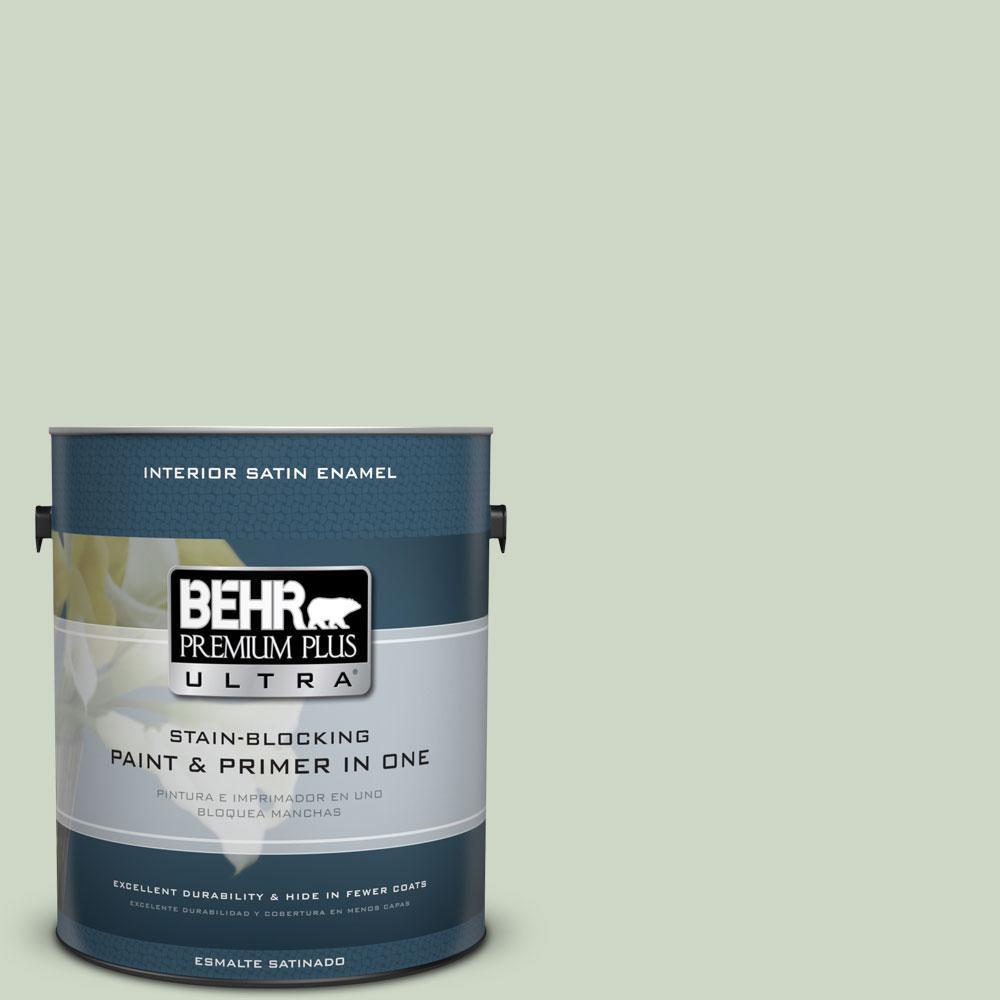 BEHR Premium Plus Ultra 1-gal. #S390-2 Spring Valley Satin Enamel Interior Paint