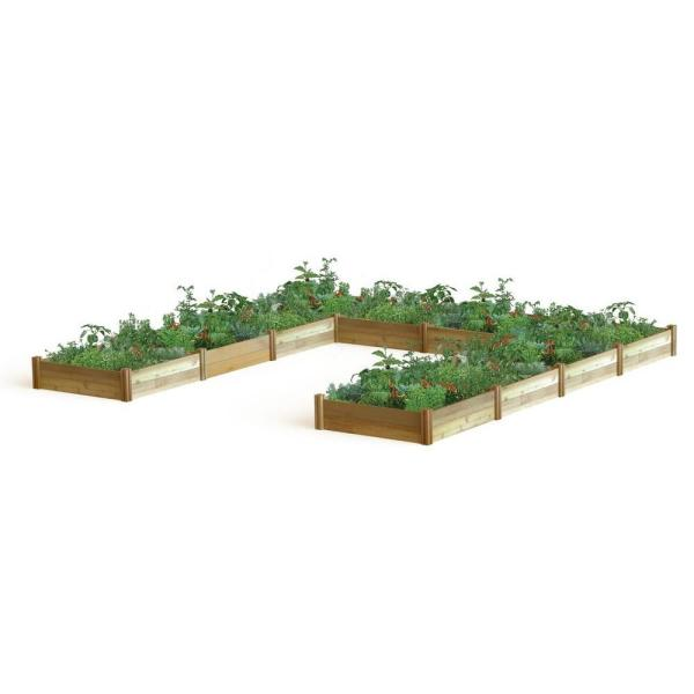189 in. x 189 in. x 13 in. ''U'' Shaped Harvester Raised Garden Bed