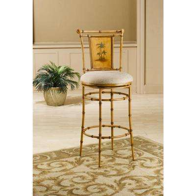 West Palm 30 in. Burnished Brown Swivel Cushioned Bar Stool