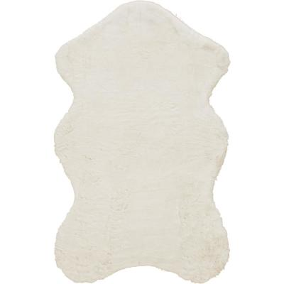 Bazaar Piper Snow Sheepskin 3 ft. x 5 ft. Solid Polyester Area Rug