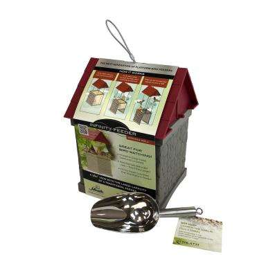 Infinity Wild Bird Feeder For Mixed Bird Seed With Stainless Steel Scoop