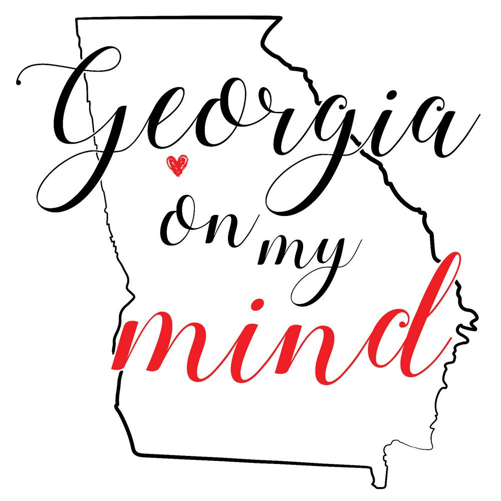 Wall Pops Red Georgia Wall Decal, Reds Add the delight of southern charm to your space with this Georgia state wall art kit. In elegant black and red script, this decal reads,  Georgia on my mind.  Georgia Wall Art Kit contains 1 piece on 1 sheet that measures 24 in. x 17.5 in. Color: Reds.