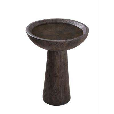 Woodland Wood Grain Outdoor Bird Bath