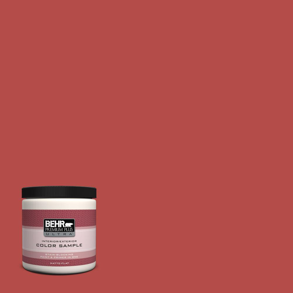 Behr Exterior Paint Home Depot behr premium plus ultra 8 oz. t1718 hot and spicy flat interior