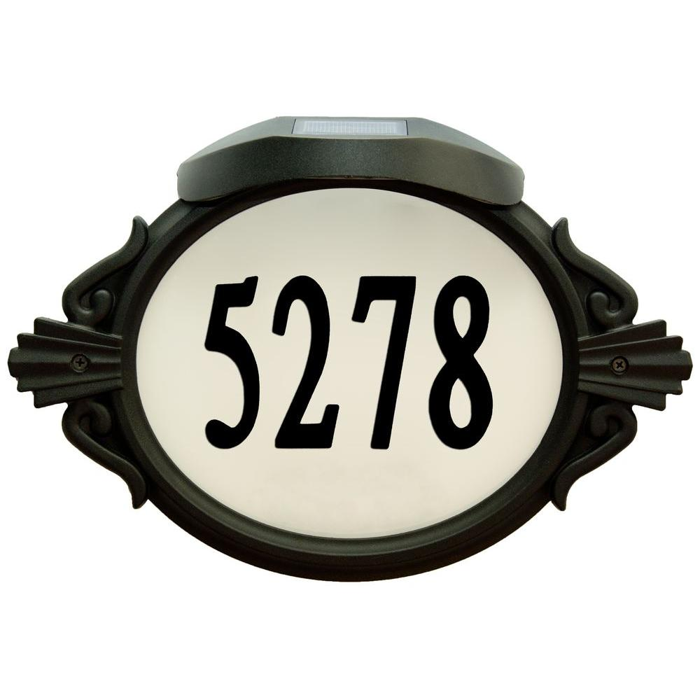Roman Oval Aluminum Lighted Address Plaque
