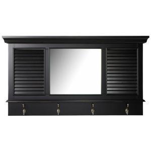 Home Decorators Collection Shutter 23.25 inch H x 43 inch W Worn Black Framed Wall Mirror... by Home Decorators Collection