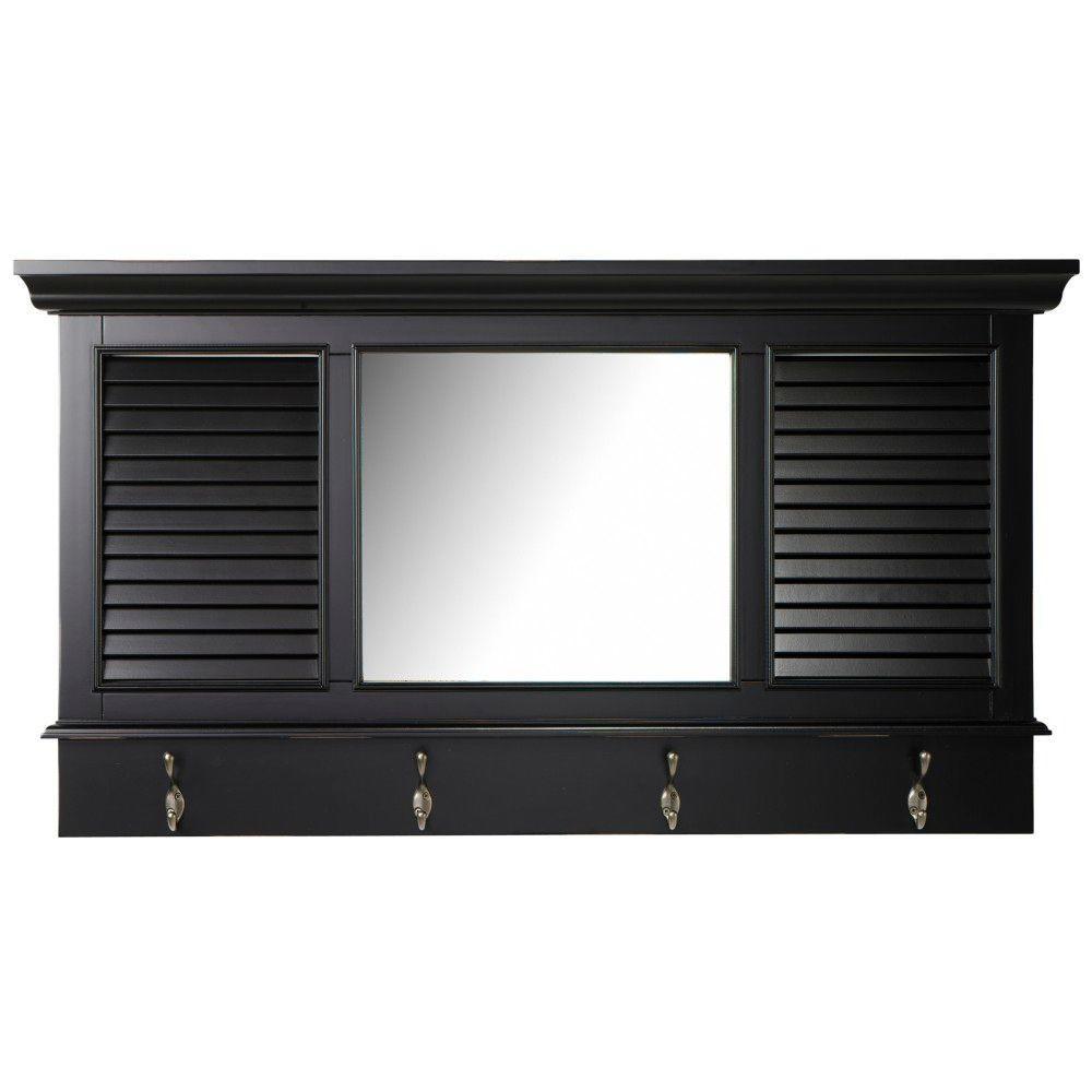 Deals on Shutter 23.25 in. H x 43 in. W Worn Framed Wall Mirror
