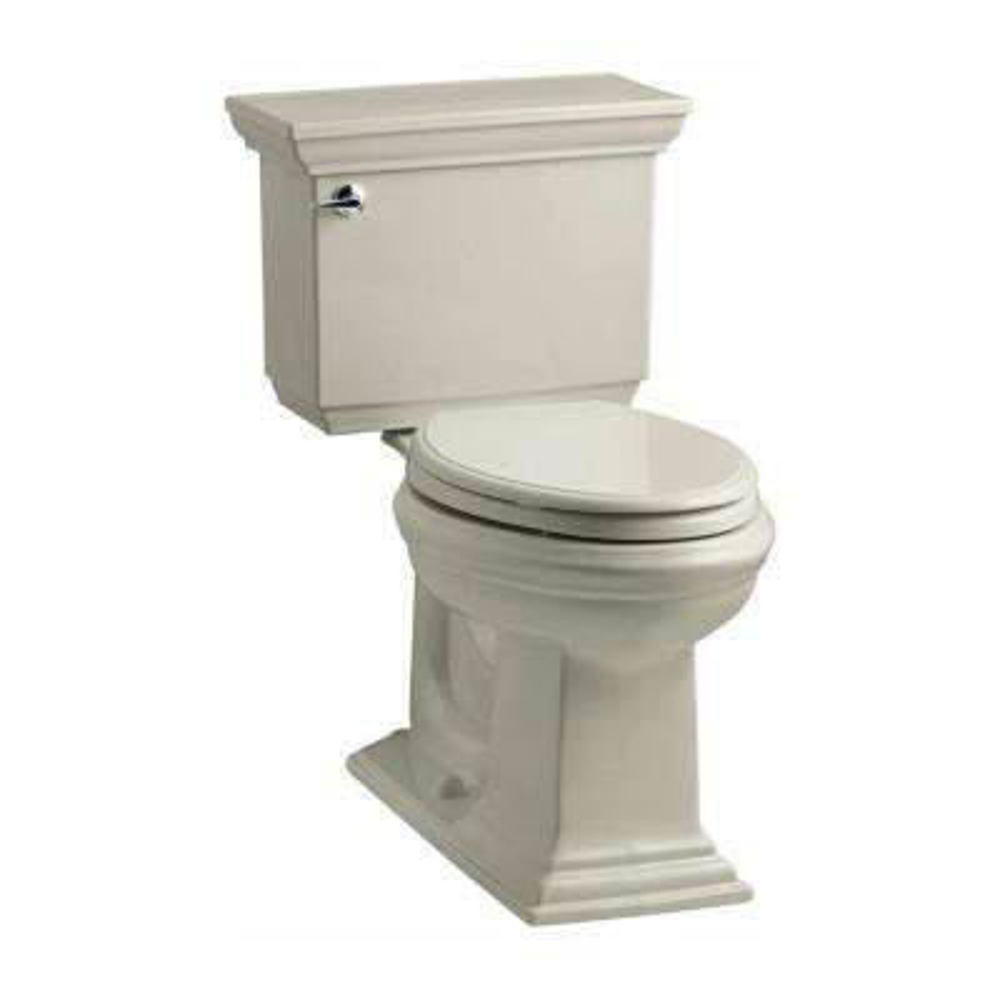 Memoirs Stately 2-piece 1.28 GPF Single Flush Elongated Toilet with AquaPiston Flush Technology in Sandbar