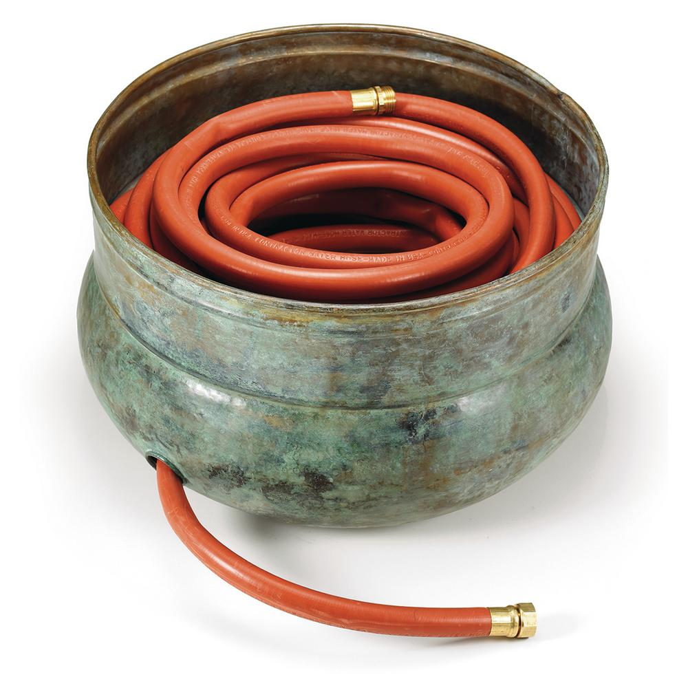 Sonoma Hose Pot in Blue Verde Brass