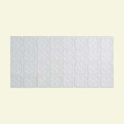 Traditional 10 PVC - 2 ft. x 4 ft. Glue-Up Ceiling Tile in Gloss White