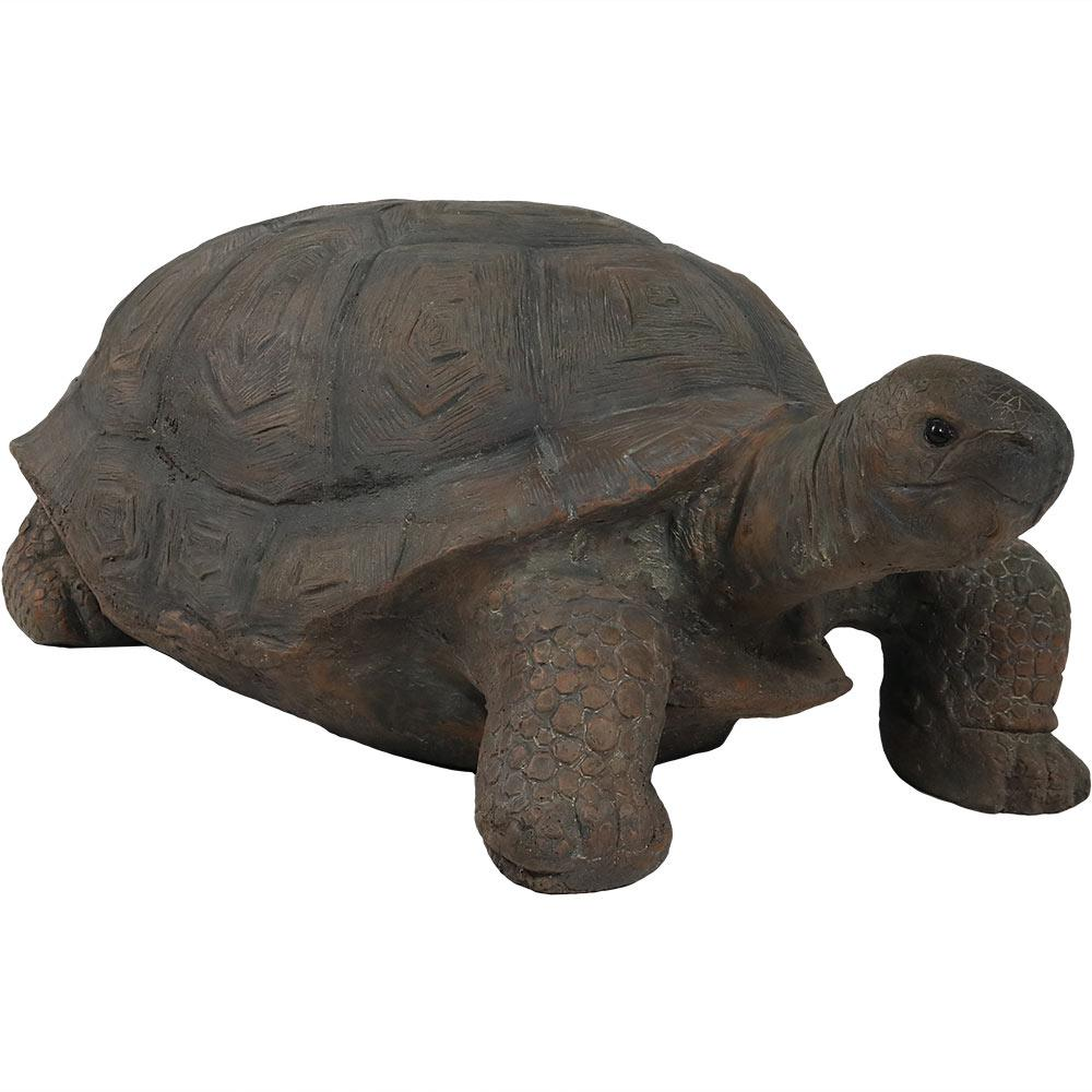 Sunnydaze Decor 30 In Todd The Tortoise Indoor Outdoor Lawn And Garden Statue