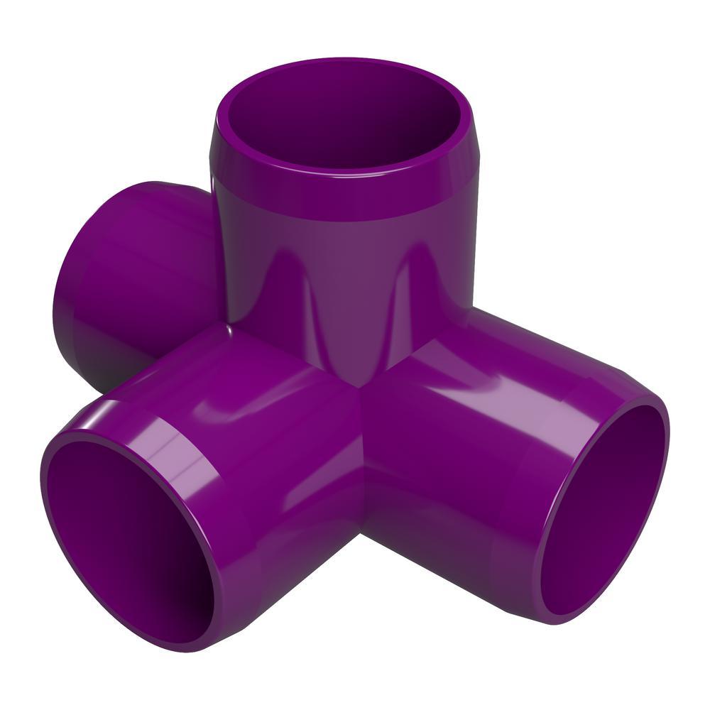 Furniture Grade FORMUFIT F03445E-PU-8 Elbow PVC Fitting Purple Pack of 8 3//4 Size 45 Degree